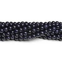Синий Авантюрин (Голдстоун), Натуральный камень,бусины 8 мм, Шар, Отверстие 1 мм, количество: 47-48 шт/нить