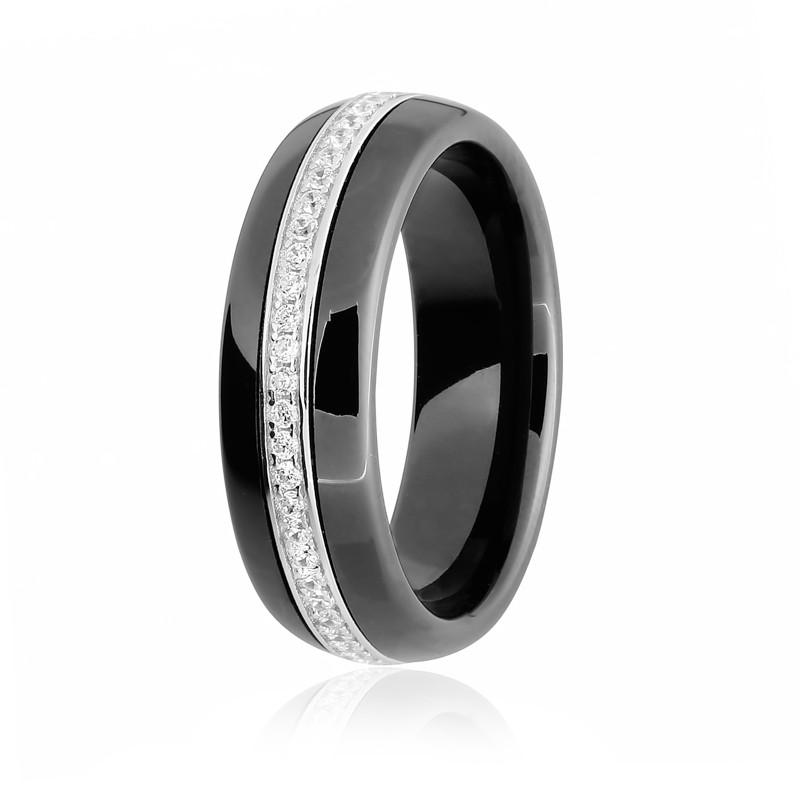 """Серебряное кольцо с чёрной керамикой """"1000"""""""