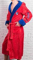 Махровый халат мужской в ярком цвете