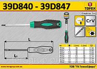 Отвертка Torx намагничена T6,  TOPEX  39D840