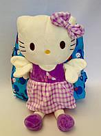 "Рюкзак детский для девочки ""Hello Kitty ""  голубого цвета"