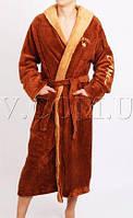Махровый халат мужской для дома