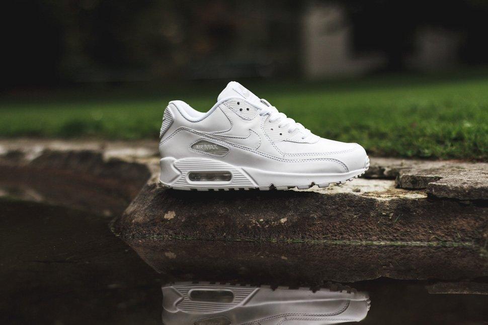 b9de09977ecd Модные кроссовки., фото Nike Air Max 90 Leather All White. Оригинальные  кроссовки.
