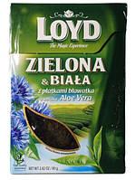 Зеленый листовой чай с лепестками василька Loyd 80 g. - Польша