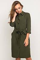 Короткое платье-рубашка №17-68 р. S;М; L хаки