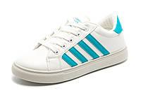 Кроссовки Dual унисекс, белые с голубым, р. 37 38 39 41