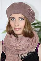 Женский шерстяной Берет Анастасия валяный из натуральной шерсти
