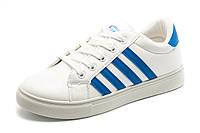 Кроссовки Dual унисекс, белые с синим, р. 36 37 38