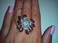 Сердолик кольцо с камнем сердолик в серебре размер 17,5-18 Индия!, фото 1