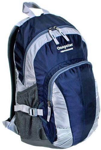 Компактный городской рюкзак на каждый день 22 л. Onepolar (Ванполар) W1570-navy синий