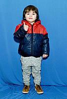 Детская демисезонная куртка плащевка на синтепоне + флисовая подкладка размеры 3 4 5 6 лет