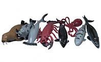 """Морские животные(морж,акула,кит,осьминог,рак) ГонконгA010P тянучка 7-8"""" 12в.24шт.в кор.,ш.к./12/288/"""