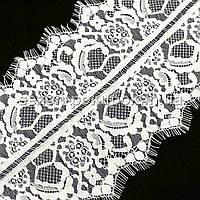 (3 метра) Французское кружево (Шантильи, с ресничками) ширина 18,5см (цена за 3 м) Цвет - АЙВОРИ