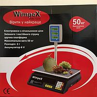 """Весы торговые 50кг""""WIMPEX"""" (6v) с Табло на стойке"""