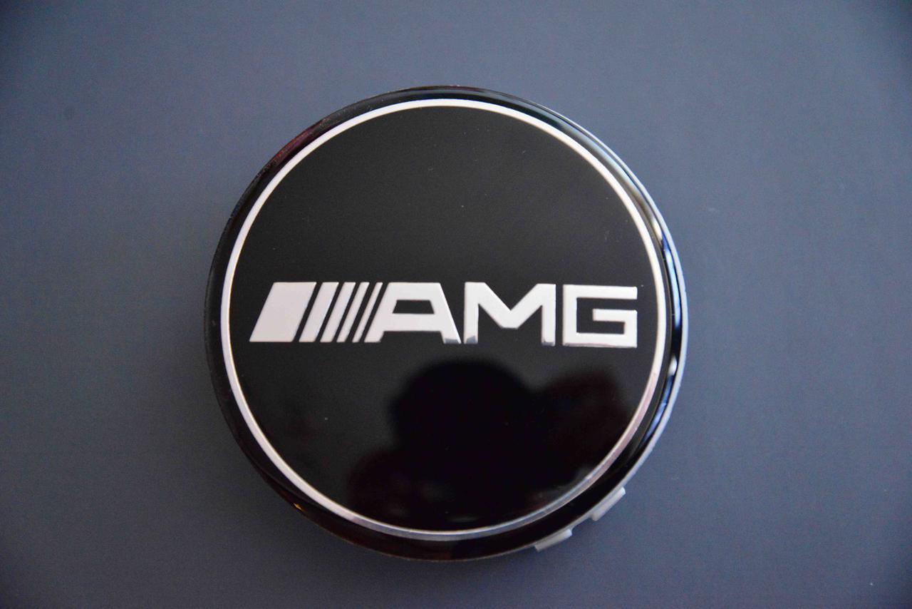 Колпачки заглушки на литые диски в диски Mercedes  Мерседес AMG (75/70/16) 610C6010K74 черный