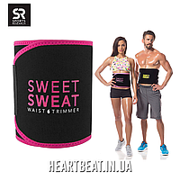 Пояс для похудения Sweet Sweat Waist Trimmer - розовый (Оригинал от Sports Research)