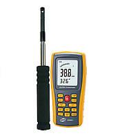 Термоанемометр Benetech GM8903 ((0.3-45m/s; 0-45?C; 0-999900m3/min), USB, Память 350