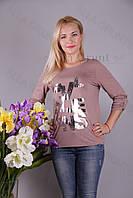 Блуза-туника трикотажная 428-осн808/2-128 полубатал оптом от производителя Украина