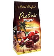 Шоколадные конфеты с ромом Pralinés Maitre Truffout Rum-cocoa-flavour, 200 г