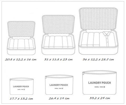 Размеры сумочек дорожных