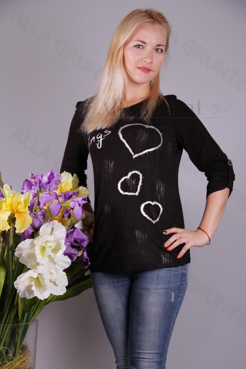 Блуза-туника трикотажная 400-осн807/1-75 полубатал оптом от производителя Украина