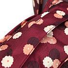 Набор дорожных сумочек в чемодан (6 шт.) (бордовый в цветы), фото 5