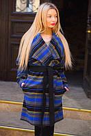 Женское Пальто полоска с поясом