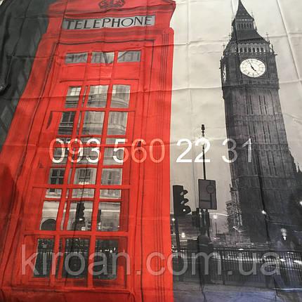 Занавеска для ванной фотопринт Биг Бен, Лондон 180х180см, фото 2