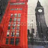 """Шторка для ванной """"Город"""" фотопринт Биг Бен, Лондон"""