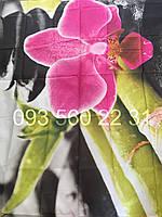 """Шторка для ванной """"Город"""" фотопринт Орхидея"""