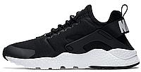 "Женские кроссовки Nike Air Huarache Ultra ""Black/White"" (найк хуарачи) черные"