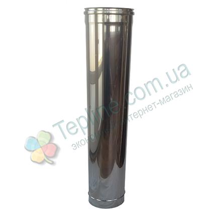 Труба для димоходу d 150 мм; 0.8 мм; 1 метр з нержавіючої сталі AISI 304 - «Версія-Люкс», фото 2