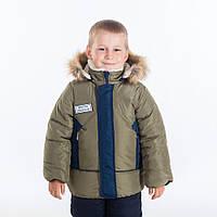 """Детская зимняя куртка-парка """"Миша"""" для мальчишек,Зима 2018"""