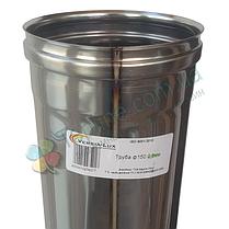 Труба для димоходу d 160 мм; 0.8 мм; 1 метр з нержавіючої сталі AISI 304 - «Версія-Люкс», фото 2