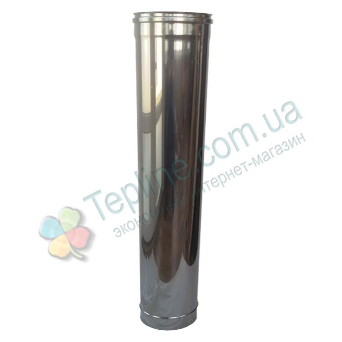Труба для димоходу d 220 мм; 0.8 мм; 1 метр з нержавіючої сталі AISI 304 - «Версія-Люкс»