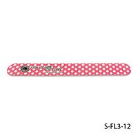 Пилка Lady Victory S-FL3-12 с наждачным напылением, прямая, красная в белый горох (100/180) #S/V