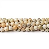 Африканский Опал Грань, Натуральный камень, бусины 8 мм, Шар, Отверстие 1 мм, количество: 47-48 шт/нить