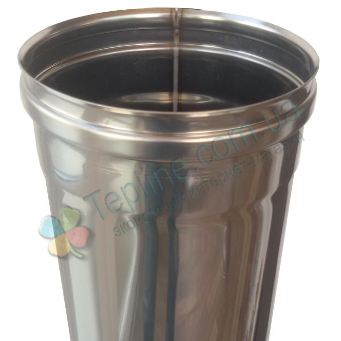 Труба для дымохода d 250 мм; 1 мм; 1 метр из нержавейки AISI 304 - «Версия Люкс»