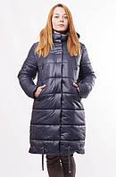 Женская темно-синяя зимняя куртка Даша 48-56 размеры