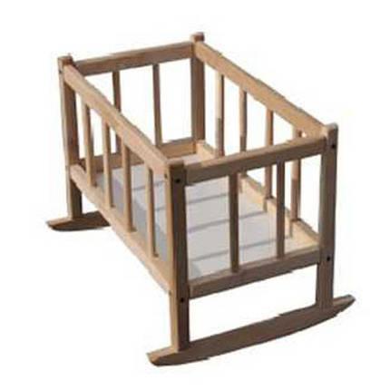 Кроватка для кукол деревянная (бук), 171016, фото 2