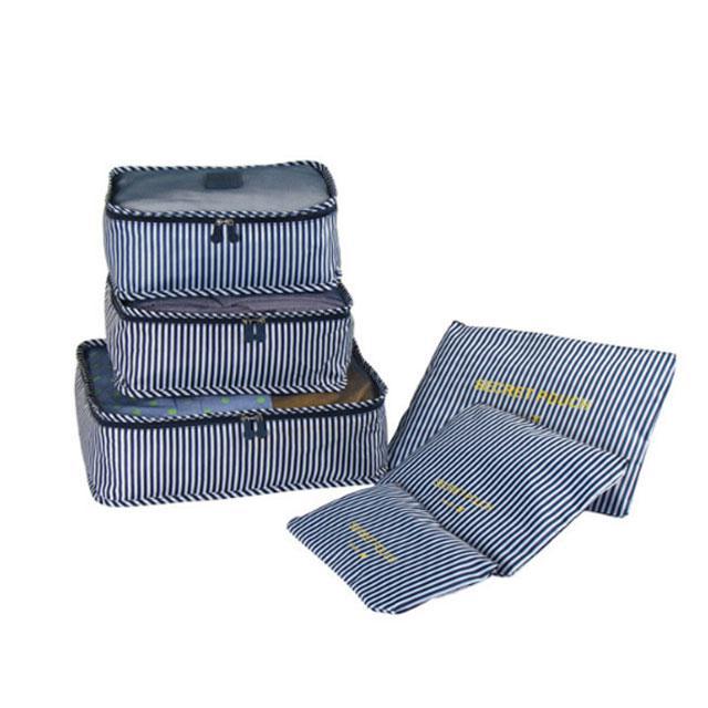 Набор дорожных сумочек в чемодан морская полоска