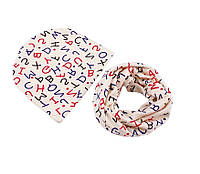 Комплект детский шапка и шарф снуд демисезонные