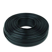 Плоский телефонный кабель многожильный провод 100 метров, черный, 6 проводов, TC1000S6-100M-Б