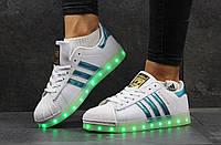 Женские кроссовки Adidas Superstar LED белые 2919