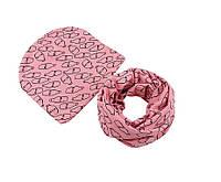 Шапка и шарф снуд детский набор для девочки