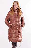 Женская коричневая зимняя куртка Даша 48-56 размеры