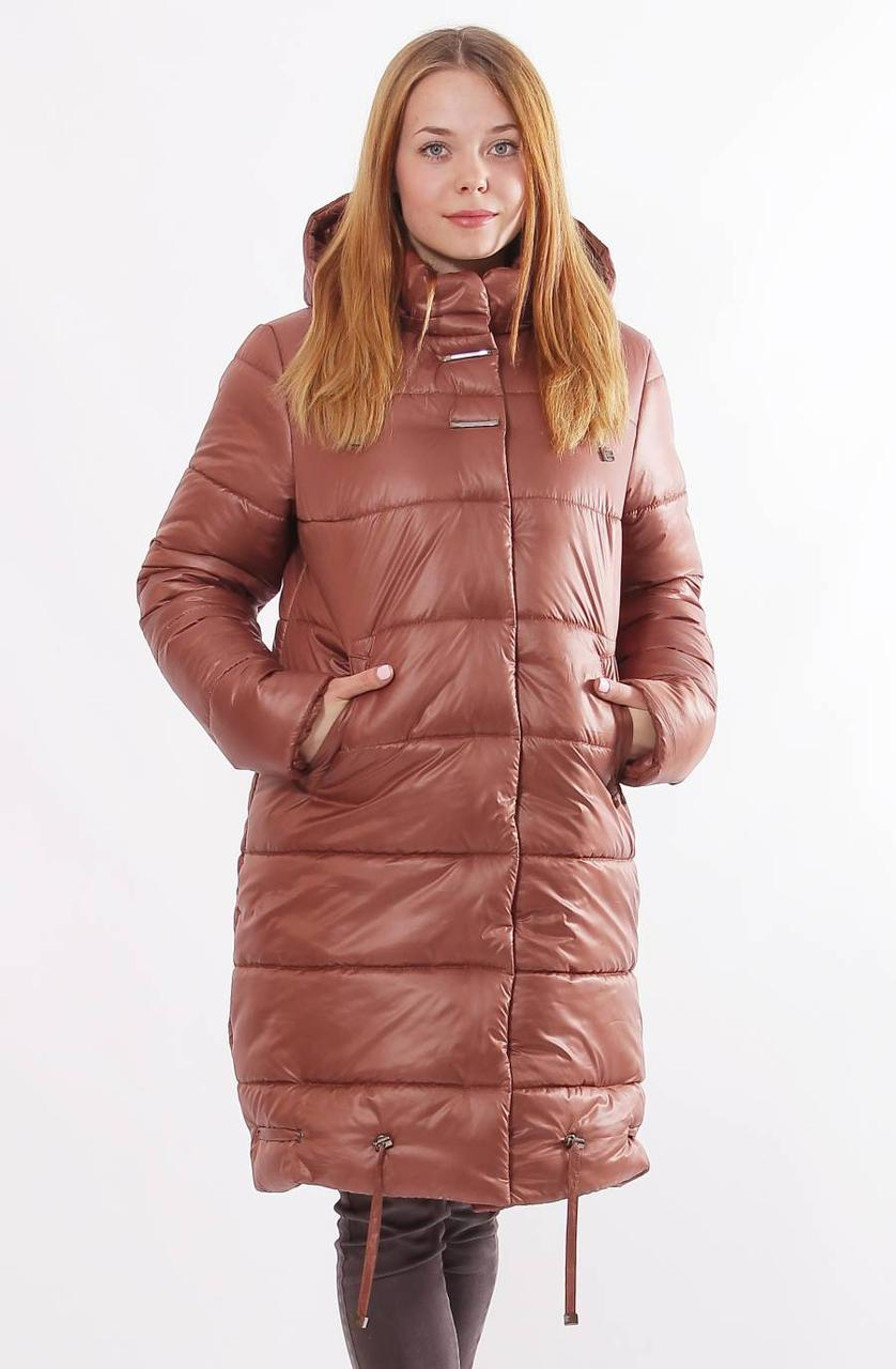 960c978d8b5 Женская коричневая зимняя куртка Даша 48 50 52 54 56 размеры -  Интернет-магазин одежды