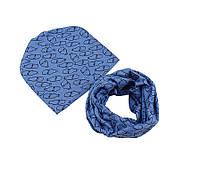 Комплект шапка  и шарф хомут детский весенний
