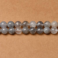 Серебряный Кварц Грань, Натуральный камень, На нитях, бусины 8 мм, Шар, кол-во: 47-48 шт/нить