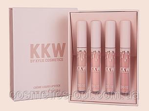 Комплект жидких матовых помад Kylie Cosmetics KKW (4 color) (реплика)